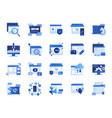 web and marketing icon set vector image vector image