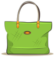 women green canvas bag vector image vector image
