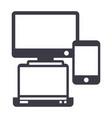 gadgetsnotebook smartphone line icon vector image