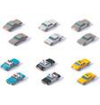 isometric cars set vector image
