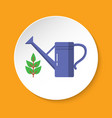 watering can icon in flat style on round button vector image