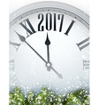 2017 year background with clock vector image vector image
