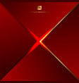 abstract background red geometric triangles and vector image