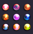 abstract buttons crystal balls lines grid vector image