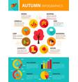 autumn season infographics vector image vector image