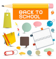 Back to School Objects vector image vector image