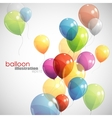 background with multicolored balloons vector image