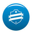 badge business icon blue vector image