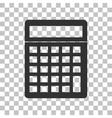 Calculator simple sign Dark gray icon on vector image vector image