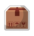 carton box packing icon vector image vector image