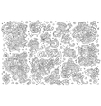 Cinema movie film doodles sketchy symbols vector image vector image