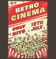 cinema vintage poster vector image vector image