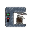 coffe maker vector image vector image