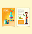 colorful template of science brochure vector image vector image