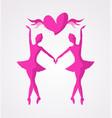 dancer girl symbol vector image vector image