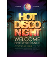Disco poster night club vector image vector image