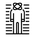 emotional man icon outline style vector image vector image