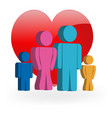 family love icon logo design vector image vector image