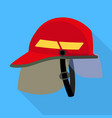 fire fighter helmet icon flat style vector image