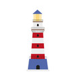 flat lighthouse icon symbol decoration element vector image