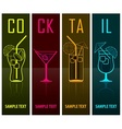 Four cocktail silhouettes on vector image vector image
