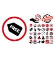Free Sticker Flat Icon with Bonus vector image vector image