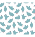 funny hen seamless pattern background vector image