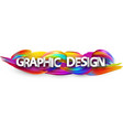 graphic design paper banner with colorful brush vector image vector image