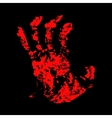 Hand Bloody vector image vector image