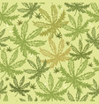 hemp seamless pattern background with different vector image