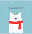 holiday card with bear vector image vector image