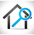 house with magnifier icon for real estate vector image
