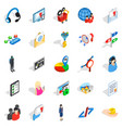 human being icons set isometric style vector image vector image