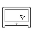 laptop with cursor thin line icon screen vector image vector image