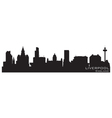 liverpool england skyline detailed silhouette vector image vector image