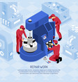 mechanics isometric vector image