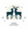 merry christmas greeting card with calligraphy vector image vector image