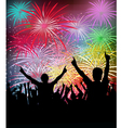 NewYears Party Fireworks vector image