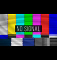 no signal tv descendant network rainbow bars vector image vector image