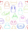 pattern from various fashionable women s handbags vector image vector image