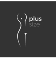 Plus size woman logo concept vector image