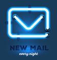 realistic neon envelope with wires and te vector image