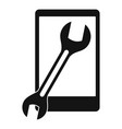 repaired phone icon simple style vector image vector image