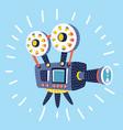 retro cinema icon vector image vector image