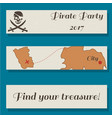 set of flyer templates with pirate party vector image vector image