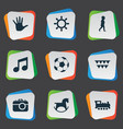 set of simple kid icons vector image vector image
