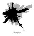 Shanghai circular skyline vector image vector image