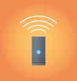 smart home assistant intelligence speaker device vector image