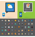 Smartphone alert and flat icons collection Set 3 vector image vector image