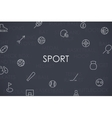Sport Thin Line Icons vector image vector image
